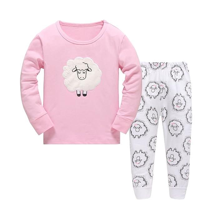 Amazon.com: Las niñas pijamas Ovejas de dibujos animados los ...