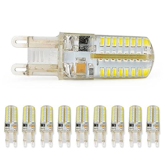 10 x G9 3 W SMD 3014 pin Base bombillas LED foco lámpara de luz blanca