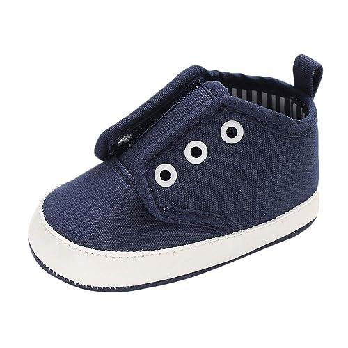 Zapatos de bebé, ASHOP Botines Bebe Chelsea Zapatos Bebe niño Primeros Pasos Zapatillas Rojas (