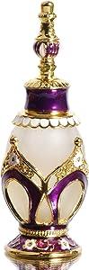 Waltz&F Purple Pattern Vintage Refillable Perfume Bottle Empty Frosted Glass Essential Oil Bottle Home Decor30ml
