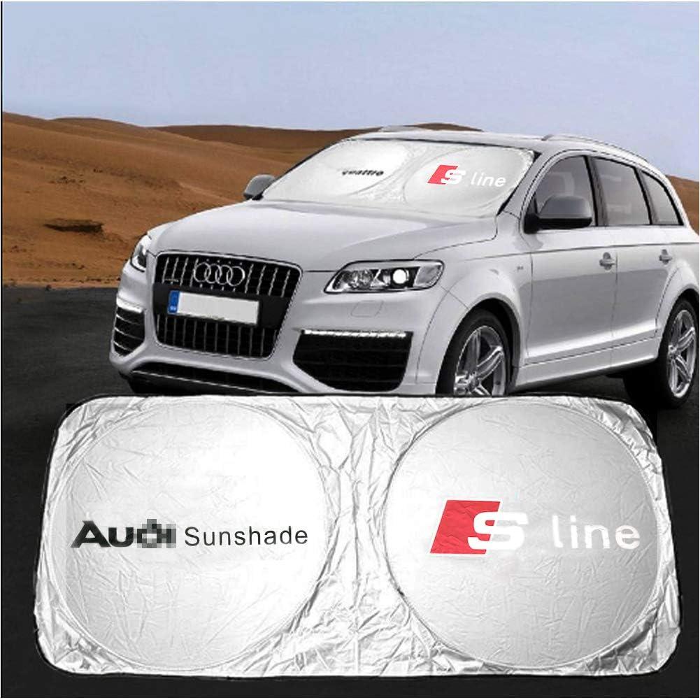 f/ür Audi s line A4LA6LA5A7A8A1Q5Q3A3Q7(White) blockiert UV-Strahlen Sonnenblende Unbekannt Yika Windschutzscheiben-Sonnenschutz