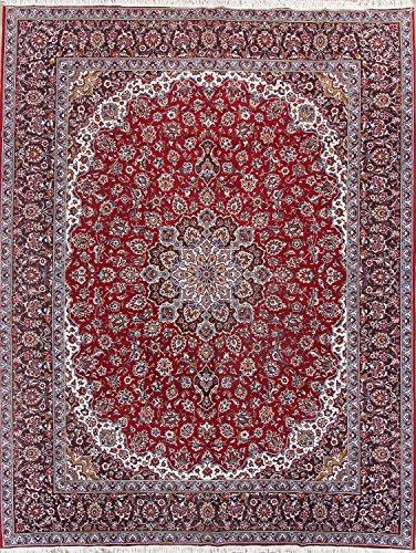 Rug Source Kashan Machine Made Persian Area Rug 10x13 (12' 5'' X 9' (Burgundy Kashan Rug)