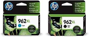 HP 962XL | Ink Cartridge | Cyan | 3JA00AN & 962XL | Ink Cartridge | Black | 3JA03AN