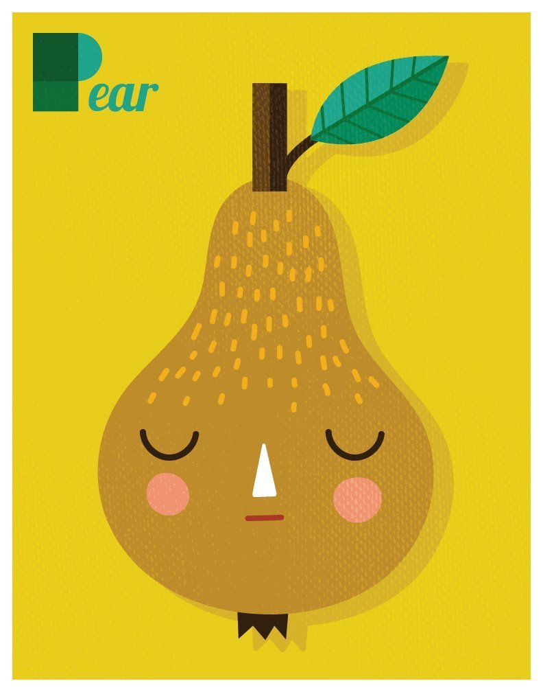 Amazon.com: P is for PEAR Print // Pear Alphabet Print // Pear Wall ...