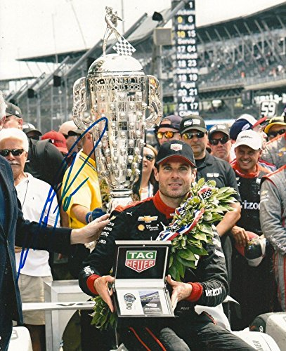 Autographed Will Power Photo - 8x10 INDY 500 TROPHY IRL INDY COA - Autographed NASCAR Photos ()