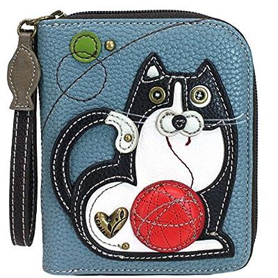 Chala Fat Cat Zip-Around Wristlet Wallet - Cat Lover Gift