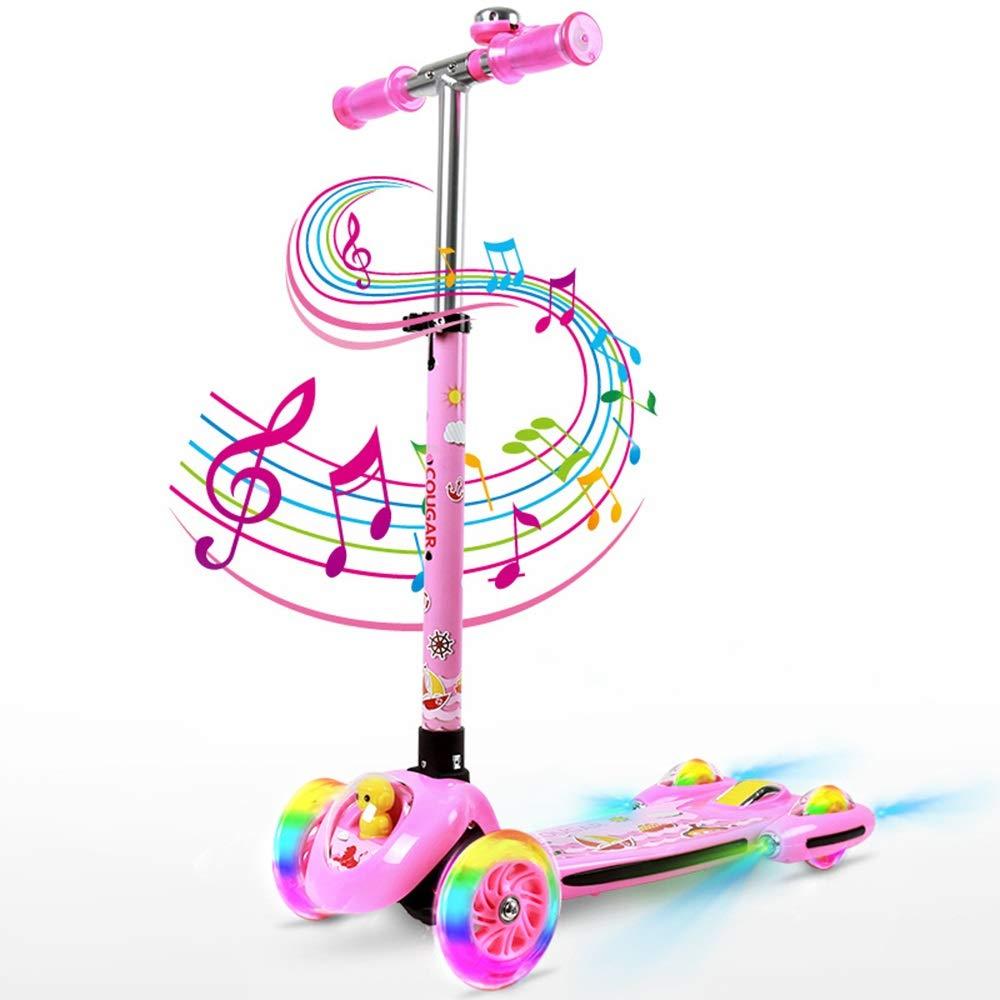 Runplayer ) 子供のためのフラッシュミュージックスクーター、折りたたみ式、持ち運びが簡単、子供の贈り物 ( : Color Pink : Pink ) B07R134KFJ, ウォータープロショップ:b0df478f --- faculdadeamadeus.com.br