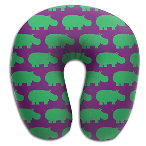 Amazon.com: CRSJBB219 Hippo almohada de viaje, almohada de ...