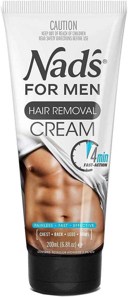 Nads For Men - Crema depilatoria para hombre (200 ml): Amazon.es: Belleza