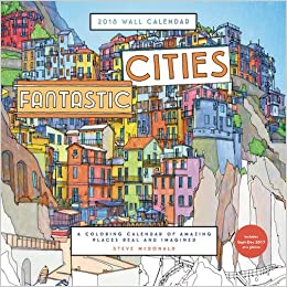 Amazon Fantastic Cities 2018 Wall Calendar A