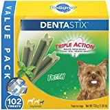 Pedigree DENTASTIX Toy/Small Dental Dog Treats Fresh, 1.6 lb. Value Pack (102 Treats)