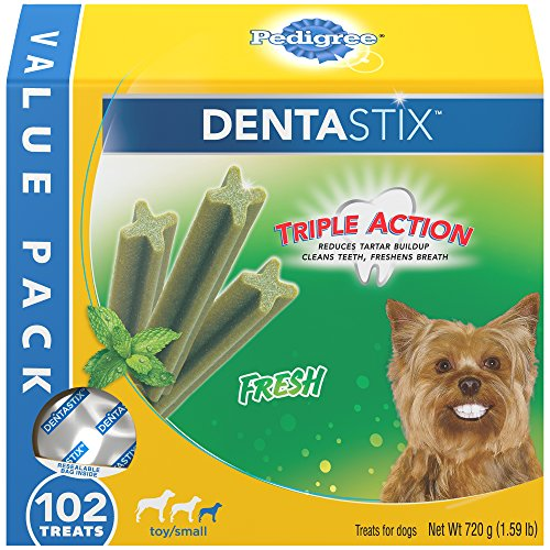 Pedigree DENTASTIX Toy/Small Dental Dog Treats Fresh, 1.6 lb. Value Pack (102 Treats) by Pedigree