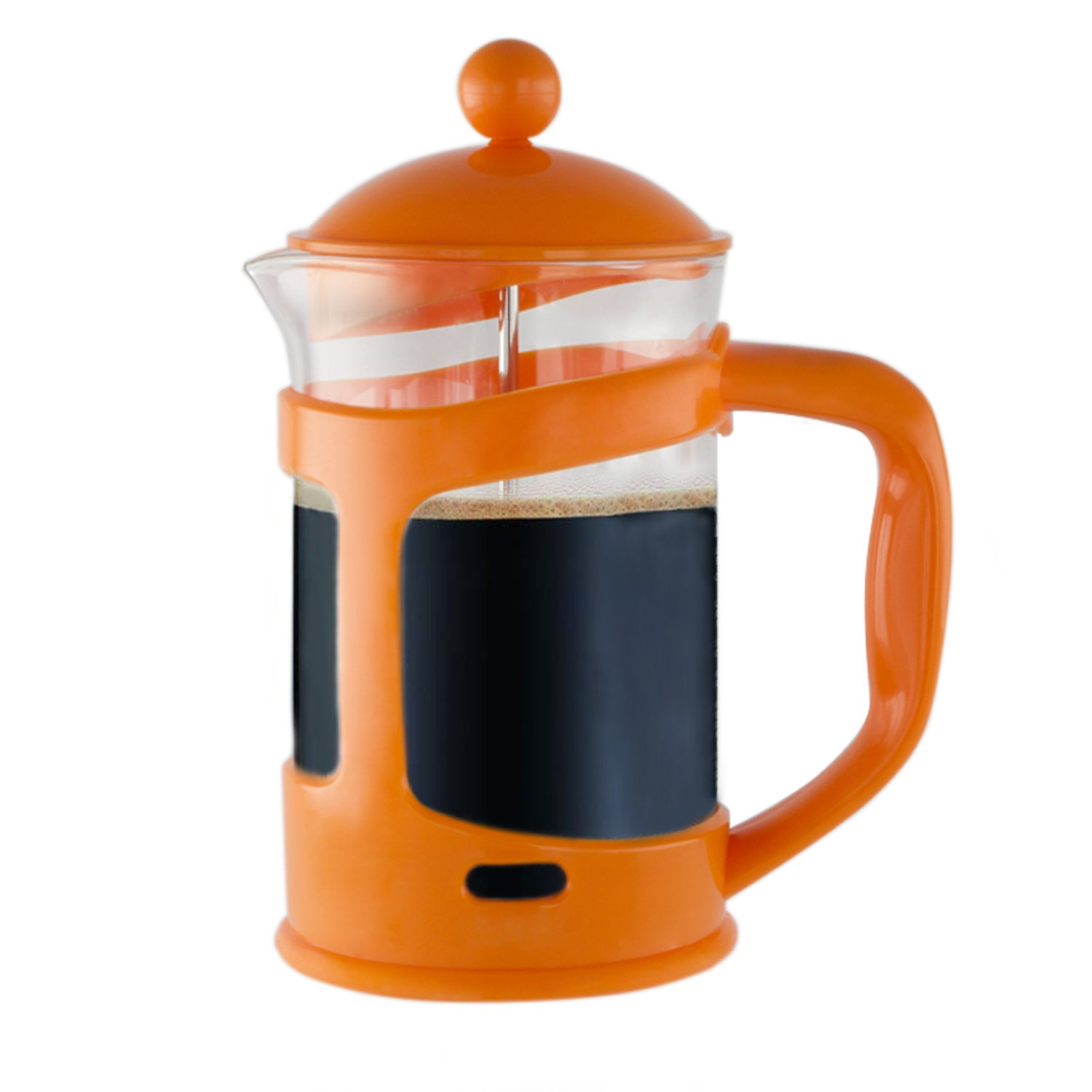 Imperial Home Colorful French Press Coffee & Tea Maker 3 Cup (28 Oz) – Borosilicate Glass Cafetiere French Coffee Maker With Mesh Filter (Orange)
