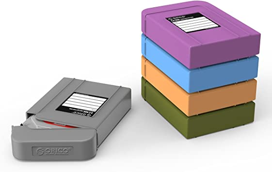 ORICO 5 X 3.5inch Hard Drive Case Protective Box Storage Case Organizational Box for 5 Colors