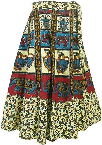Indien Kleidung Baumwoll Rock Designer Wickelrock Kleider Türkis ...