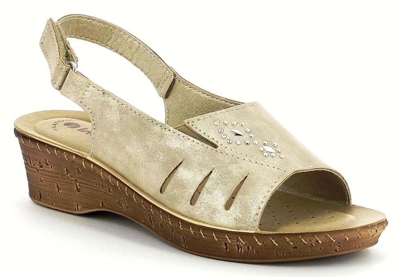 INBLU SANDALI ciabatte donna linea benessere ART 2650 SABBIA slippers