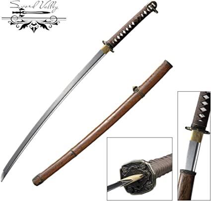 Clay tempered T10 steel Japanese Samurai Sword katana dragon tsuba razor sharp.