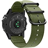 Fintie Band for Garmin Fenix 6X / Fenix 5X Plus/Tactix Charlie Watch, 26mm Premium Woven Nylon Adjustable Strap for…
