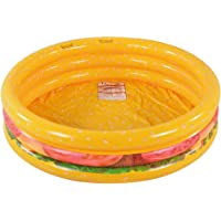 Kiddie Pool, Hamburger 3 Ring Inflatable Pool for Kids, Ideal Water Pool in Summer, 45 Inches Inflatable Swimming Pool…
