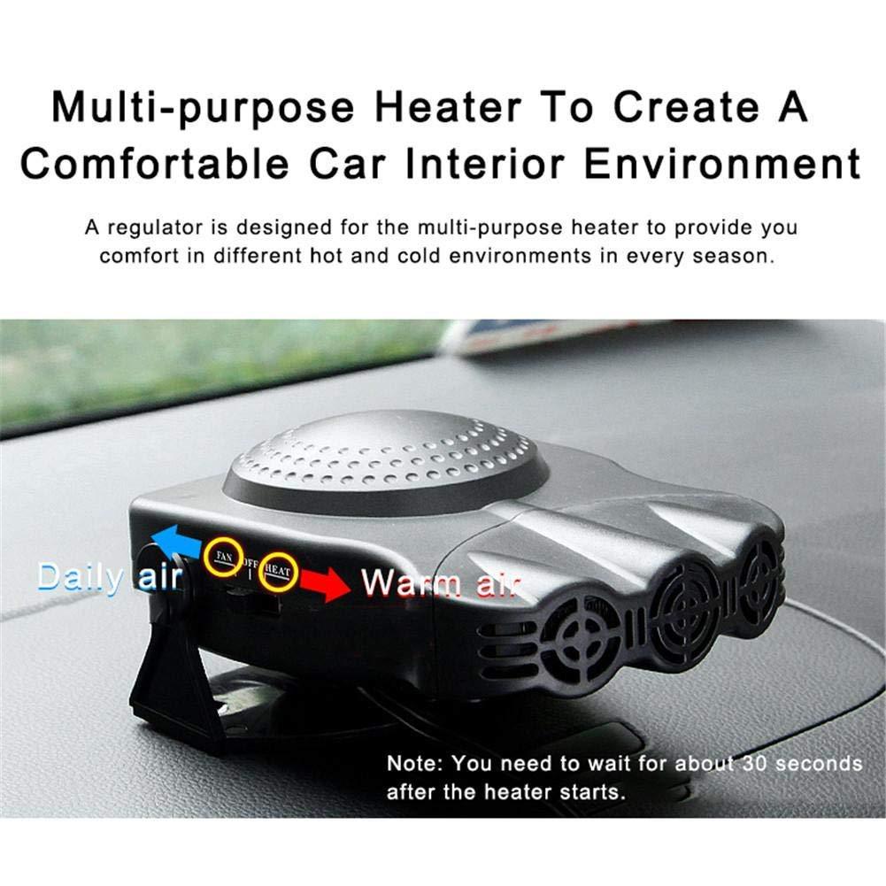 Portable Vehicle Electronic Heater 12V 150W Defogger Cooling Fan Car Ceramic Heater Portable Car Heater by Elumaxon Elumaxon Direct