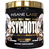 Insane Labz Psychotic Gold, High Stimulant Pre Workout Powder, Extreme Lasting Energy, Focus, Pumps and Endurance with Beta A