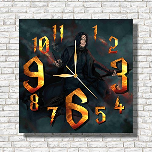 Harry Potter - Severus Snape 11.8'' Handmade Wall Clock - Get unique décor for home or office – Best gift ideas for kids, friends, parents and your soul (Home Costumes Ideas)