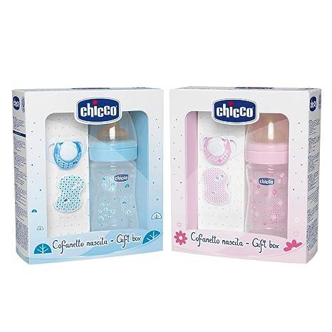 Chicco 00070730020000 - Set de regalo con tetina de caucho, 0% BPA, color azul