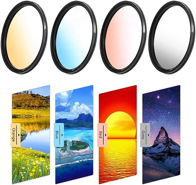 All Brands of 62mm Digital SLR Camera Lens Market/&YCY Blue Gradient Filter for Canon Nikon Sony