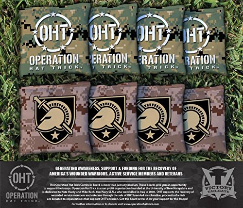 Victory Tailgate Operation Hat Trick Army Black Knights Cornhole Bag Set (corn filled) by Victory Tailgate