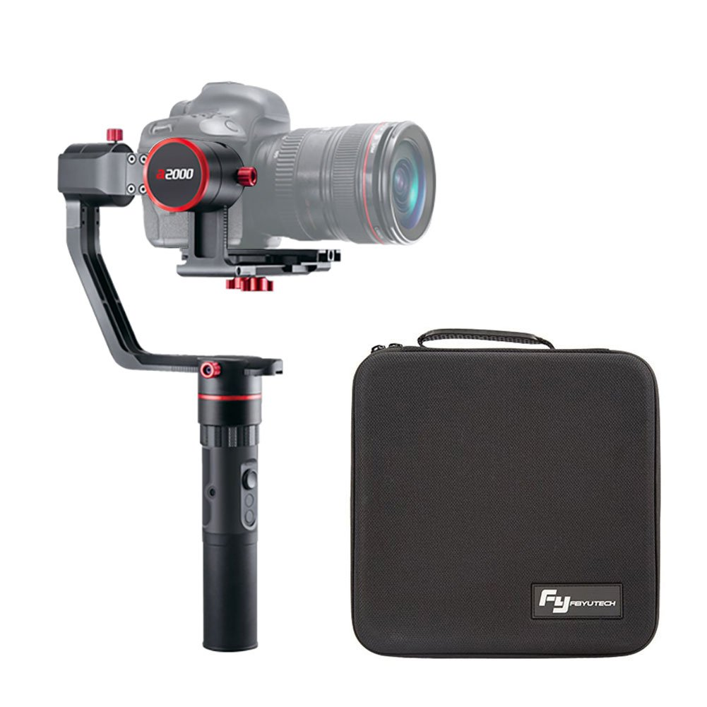FeiyuTech a2000 3-Axis Gimbal Stabilizer for DSLR Camera/Mirrorless Camera,Compatible with NIKON/SONY/CANON Series Cameras,2 Kilogram Payload,Automatic Shooting,Come with Carrying Bag