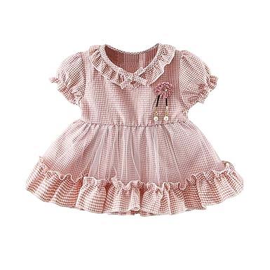 ce02eaaae5832 Feiscat 子供服 女の子 ドレス ワンピース ガールズ 花柄 ひまわり バラ 森柄 復古 夏 キッズ