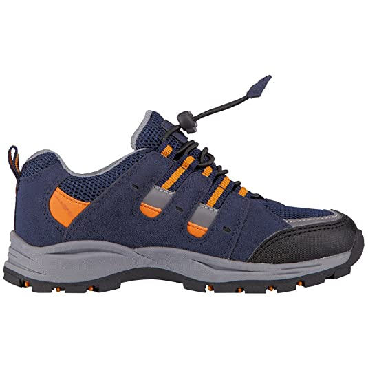 Kappa Unisex-Kinder Storm Tex Teens Low-Top, Blau (6744 Navy/Orange), 38 EU