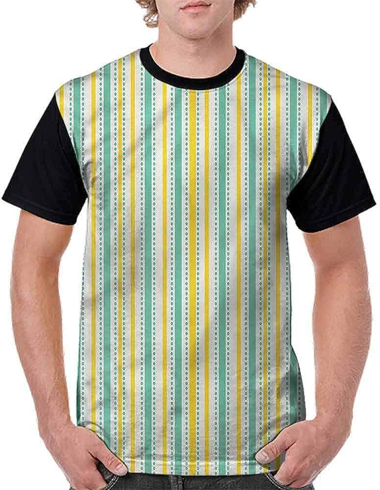 Vintage T-Shirt,Summer Stripes Dots Fashion Personality Customization