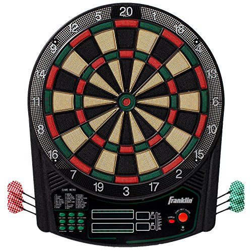"(Franklin Sports FS6000 Electronic Dartboard — Digital Dartboard — Soft-Tip Dartboard — Ready-to-Play Electronic Dartboard for Kids and Adults of All Ages — Tournament-Size 15.5"")"