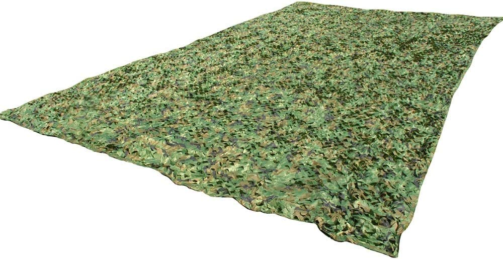 BoPin 迷彩ネット、210Dポリエステルオックスフォードクロスジャングル迷彩サンシェード迷彩ジャングルアドベンチャーキャンプハンティングシューティングブロック、30サイズ(サイズはカスタマイズ可能) カモネット (Color : A, Size : 5X7M) A 5X7M