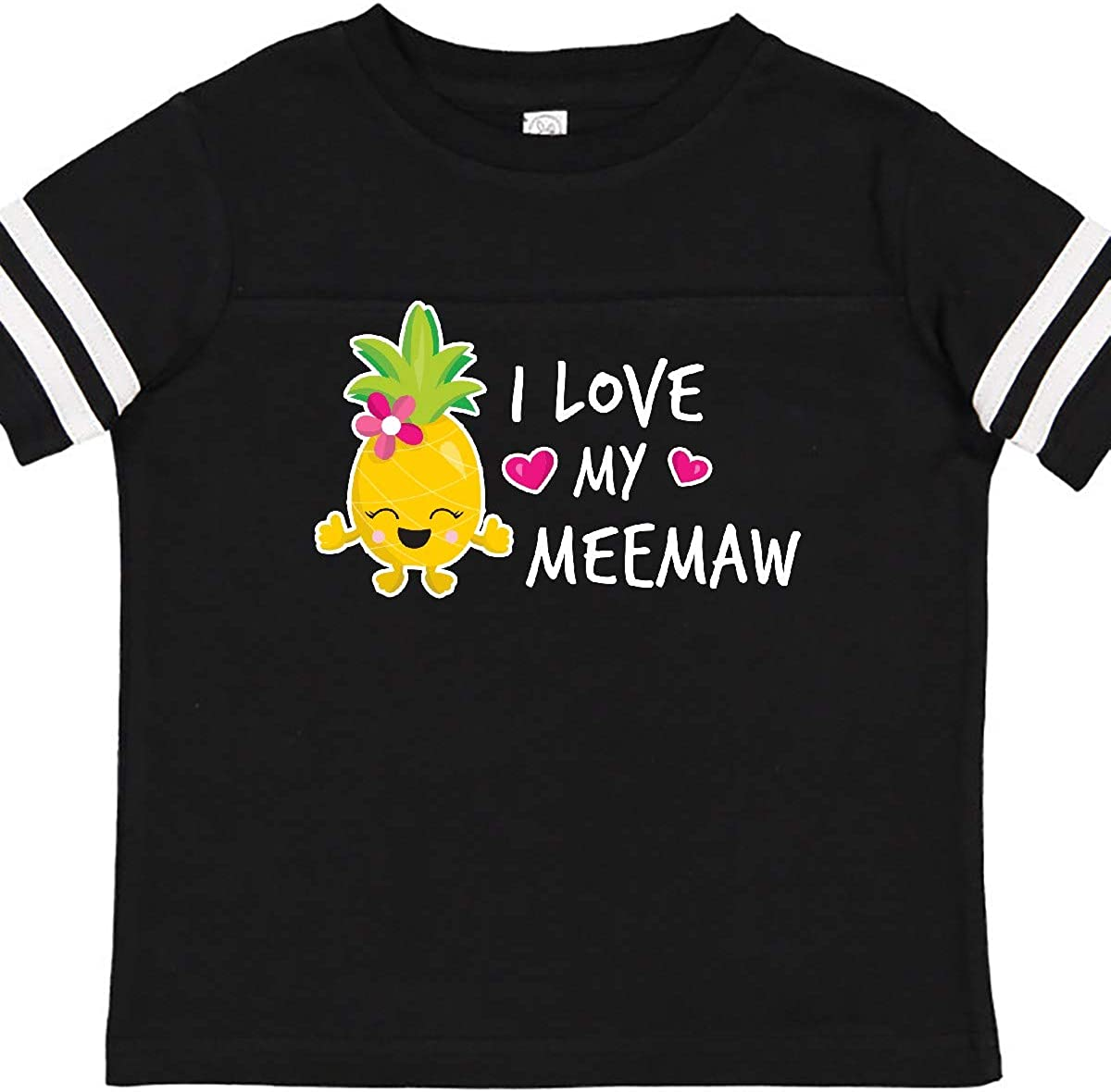 inktastic I Love My Meemaw with Pineapple Toddler T-Shirt