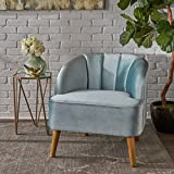 Scarlett Modern Seafoam Blue Velvet Club Chair For Sale