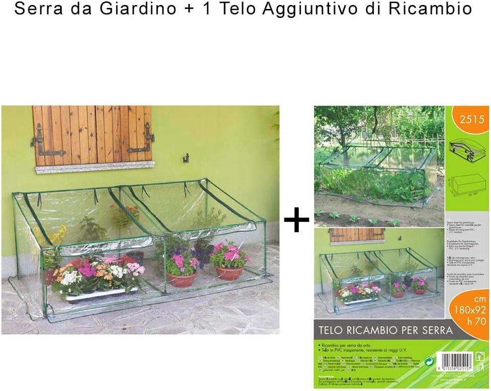 BOXLUM Serra da Giardino cm 180x92xh70 con 1 Telo Aggiuntivo di Ricambio