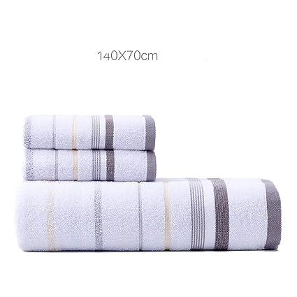 DYEWD Elegante Conjunto de Toallas de baño de algodón Grueso, Muy Suave y Absorbente,