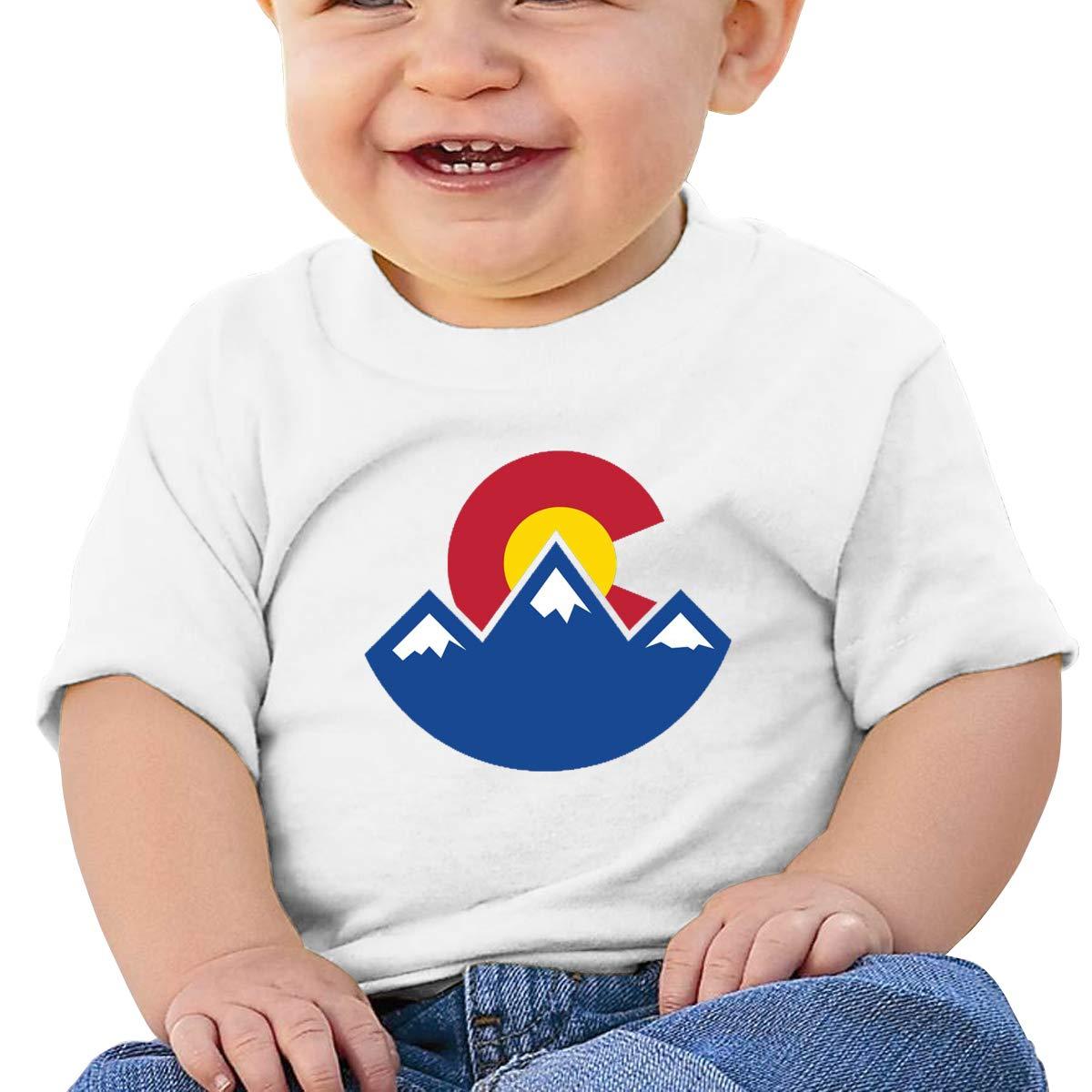 AiguanColorado Sunset Toddler//Infant Short Sleeve Cotton T Shirts White 47