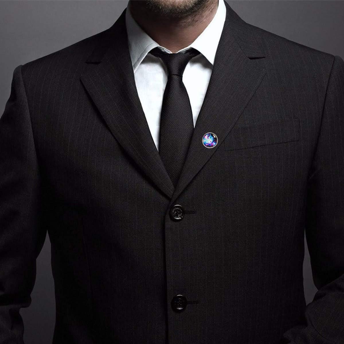 WAZZIT Round Metal Tie Tack Hat Lapel Pin Brooches Vintage Galaxy Banquet Badge Enamel Pins Trendy Accessory Jacket T-Shirt