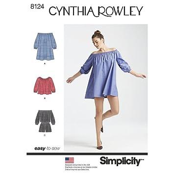 Patrón de costura Simplicidad S0981/8124 – Pelele de misses vestido y top.