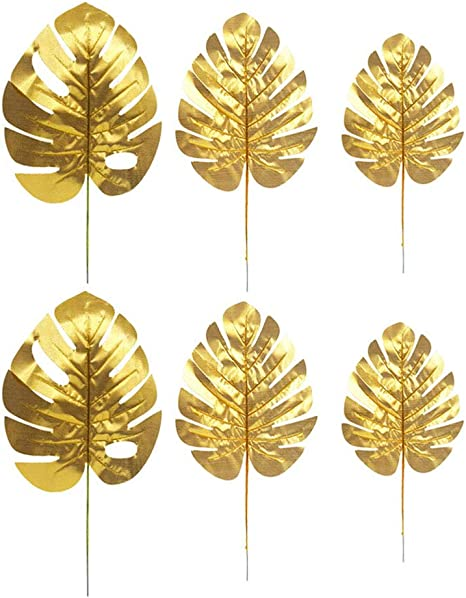 Amazon Com Artificial Plants Palm Leaves Gold Tropical Party Leaves Decorations Turtle Leaf Monstera 12pcs 3 Kinds Size Kitchen Dining Watercolor vector wreath gold geometric frame with green eucalyptus leaves, pink flowers and branches. artificial plants palm leaves gold tropical party leaves decorations turtle leaf monstera 12pcs 3 kinds size