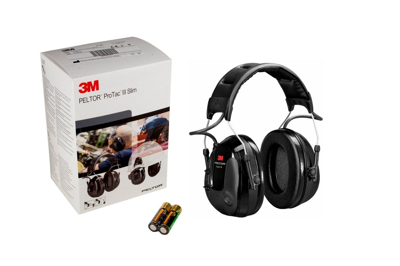 3M PELTOR Protac III Ear Headset, Slim, Black, Headband Version MT13H220A