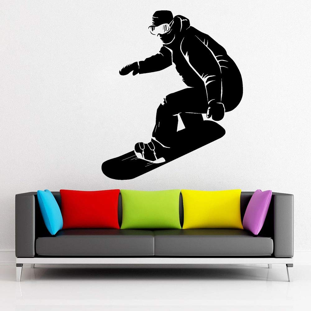 supmsds Snowboarder Extreme Sport Vinyl Wall Decal para niños ...