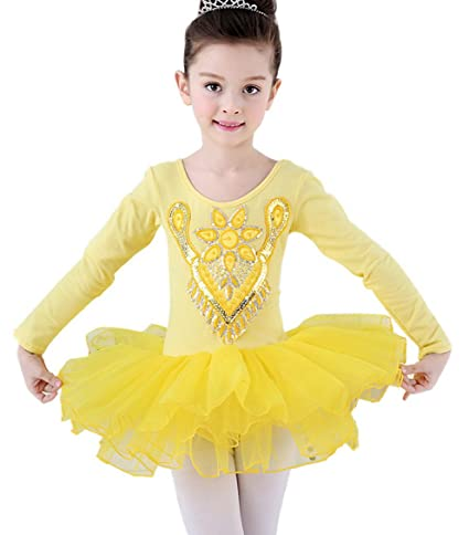 7124e27ab Amazon.com   Happy Cherry Little Girls Ballet Dancewear Dress Long ...