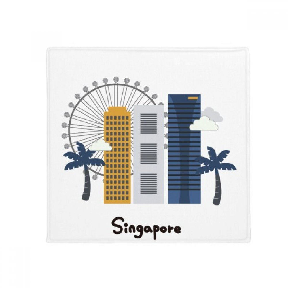 DIYthinker Singapore Flyer and Buildings Anti-Slip Floor Pet Mat Square Home Kitchen Door 80Cm Gift