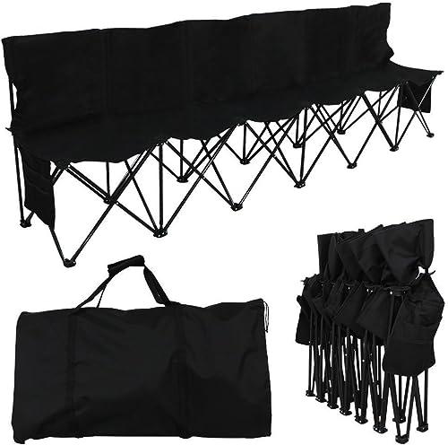 YAHEETECH 6 Seats Camping Chairs Portable Folding Bench