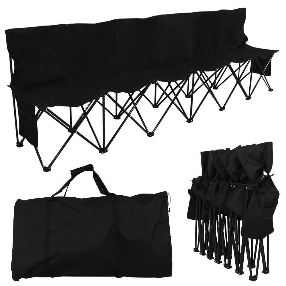 新作からSALEアイテム等お得な商品満載 Yaheetech ブラック Sidebag 4座席ポータブルサイドラインベンチのキャンプ折りたたみベンチ椅子with B07D268B52 Sidebag B07D268B52 ブラック, H.T.G.:2c5c6f40 --- arianechie.dominiotemporario.com