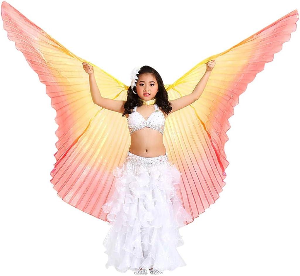 cinnamou001 Kinder Bauchtanz Fl/ügel Bauchtanz Isis Wings f/ür Frauen Bauchtanz Kost/üm Engelsfl/ügel